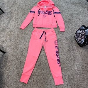 Like new PINK sweatshirt and pants set
